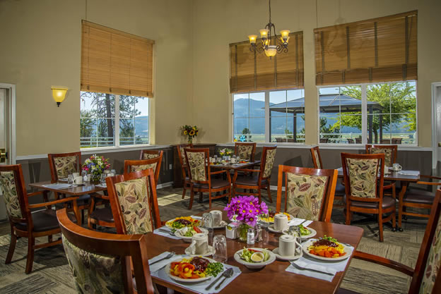 Parkview Senior Living dining area